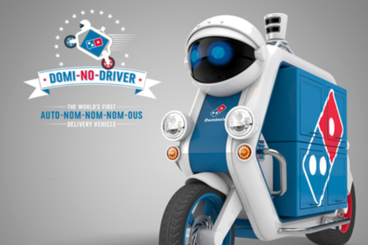 DOMINOS DRIVERLESS DELIVERY THE BLUP