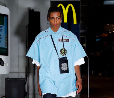 MCDONALDS HOSTED THE VETEMENTS SS20 SHOW THE BLUP