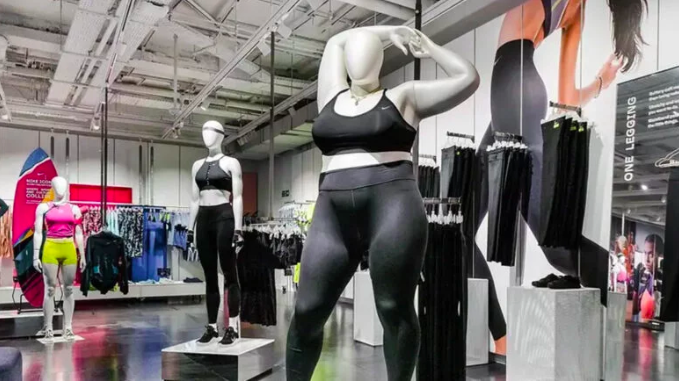 NIKE'S PLUS SIZE MANNEQUINS THE BLUP