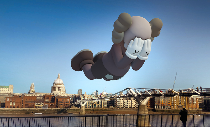 KAWS X ACUTE ART: THE NEW AUGMENTED REALITY PROJECT THE BLUP